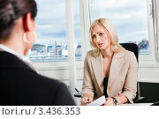 Собеседование в офисе. Стоковое фото, фотограф Андрей Попов / Фотобанк Лори