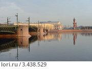 Купить «Нева. Санкт-Петербург», эксклюзивное фото № 3438529, снято 14 апреля 2012 г. (c) Александр Алексеев / Фотобанк Лори