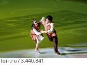 Купить «Фигуристы Марина Симонова и Виктор Драгун», фото № 3440841, снято 3 апреля 2012 г. (c) Ирина Иванова / Фотобанк Лори
