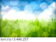 Зелёная трава. Эффект боке. Стоковая иллюстрация, иллюстратор Илья Афанасьев / Фотобанк Лори