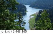 Купить «Вид сверху на реку Илыч», фото № 3448165, снято 27 июля 2009 г. (c) Антон Фролов / Фотобанк Лори