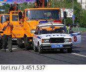 Купить «Транспорт на Щелковском шоссе. Москва», эксклюзивное фото № 3451537, снято 23 июля 2011 г. (c) lana1501 / Фотобанк Лори
