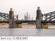 Купить «Большеохтинский мост. Мост Петра Великого. Санкт-Петербург», эксклюзивное фото № 3454041, снято 20 апреля 2012 г. (c) Александр Щепин / Фотобанк Лори
