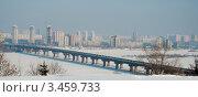 Киев. Мост Патона (2012 год). Стоковое фото, фотограф Станислав Малиновский / Фотобанк Лори