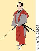 Купить «Самурай с мечом», иллюстрация № 3463905 (c) Резанцев Николай / Фотобанк Лори
