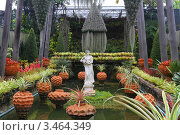 Купить «Керамические фигурки среди цветов и пальм. Тропический сад Нонг Нуч. Паттайя, Таиланд», фото № 3464349, снято 24 марта 2012 г. (c) Григорий Писоцкий / Фотобанк Лори
