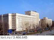 Здание Министерство обороны Российской Федерации на Фрунзенской набережной, фото № 3466645, снято 22 апреля 2012 г. (c) SevenOne / Фотобанк Лори