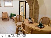 Купить «Интерьер комнаты отдыха в сауне», фото № 3467405, снято 29 марта 2020 г. (c) Валерий Шилов / Фотобанк Лори