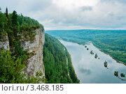 Купить «Вид на реку Вишеру от скалы», фото № 3468185, снято 29 июля 2011 г. (c) Алексей Яговкин / Фотобанк Лори