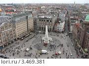 Купить «Нидерланды. Амстердам. Вид на площадь Дам и Национальный монумент.», эксклюзивное фото № 3469381, снято 23 апреля 2012 г. (c) Александр Тарасенков / Фотобанк Лори