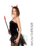Купить «Красивая девушка в костюме черта», фото № 3470529, снято 13 ноября 2010 г. (c) Сергей Сухоруков / Фотобанк Лори
