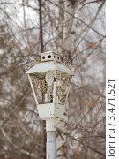 Купить «Старый уличный фонарный столб», эксклюзивное фото № 3471521, снято 31 марта 2012 г. (c) Галина Шорикова / Фотобанк Лори