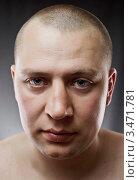 Купить «Портрет мужчины крупным планом», фото № 3471781, снято 18 апреля 2012 г. (c) Сергей Телеш / Фотобанк Лори