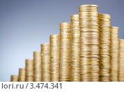 Купить «Стопки монет», фото № 3474341, снято 8 декабря 2011 г. (c) Elnur / Фотобанк Лори