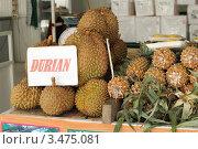 Экзотический фрукт дуриан.Таиланд. Стоковое фото, фотограф Джакобия Екатерина / Фотобанк Лори