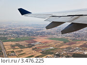 Купить «Вид с самолета», фото № 3476225, снято 28 апреля 2012 г. (c) Наталья Волкова / Фотобанк Лори
