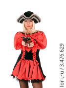 Купить «Девушка-пират», фото № 3476629, снято 13 ноября 2010 г. (c) Сергей Сухоруков / Фотобанк Лори