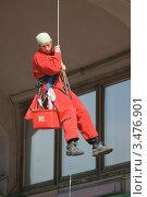 Промышленный альпинист (2012 год). Редакционное фото, фотограф Валерия Попова / Фотобанк Лори