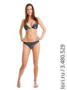 Купить «Сексуальная девушка в бикини, изолированно», фото № 3480529, снято 5 марта 2011 г. (c) Андрей Попов / Фотобанк Лори
