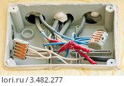 Купить «Электрическая коробка на стене», эксклюзивное фото № 3482277, снято 1 мая 2012 г. (c) Игорь Низов / Фотобанк Лори