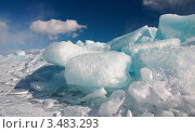 Купить «Ледяные торосы», фото № 3483293, снято 16 августа 2018 г. (c) Sergey / Фотобанк Лори