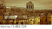 Оцинкованная крыша в городе Котка (2012 год). Стоковое фото, фотограф Сергей Высоцкий / Фотобанк Лори