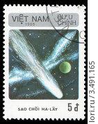 Купить «Комета Галлея. Почтовая марка», иллюстрация № 3491165 (c) Александр Щепин / Фотобанк Лори