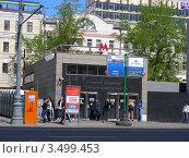 """Купить «Станция метро """"Маяковская"""". Москва», эксклюзивное фото № 3499453, снято 30 апреля 2012 г. (c) lana1501 / Фотобанк Лори"""