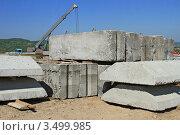 Купить «Железобетонные изделия на строительной площадке», фото № 3499985, снято 1 мая 2012 г. (c) Швадчак Василий / Фотобанк Лори