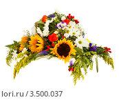 Купить «Шляпа сделана из полевых цветов», фото № 3500037, снято 31 марта 2012 г. (c) Владимир Мельников / Фотобанк Лори
