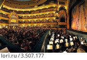 Купить «Интерьер Мариинского театра, Санкт-Петербург», фото № 3507177, снято 8 мая 2012 г. (c) Дмитрий Яковлев / Фотобанк Лори
