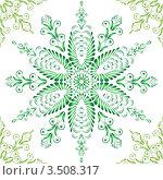 Бесшовный зеленый растительный орнамент. Стоковая иллюстрация, иллюстратор Наталья Мудрюк / Фотобанк Лори