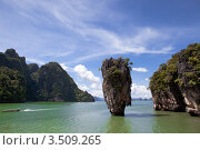 Купить «Морской пейзаж с экзотическим островом», фото № 3509265, снято 6 июля 2008 г. (c) Владимир Целищев / Фотобанк Лори