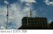 Купить «Строительство дома, таймлапс», видеоролик № 3511709, снято 1 сентября 2011 г. (c) Перов Евгений / Фотобанк Лори