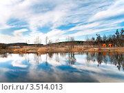 Пейзаж с озером. Стоковое фото, фотограф Хромушин Тарас / Фотобанк Лори