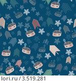 Купить «Бесшовный фон с домиками», иллюстрация № 3519281 (c) Dvarg / Фотобанк Лори