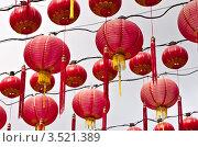 Купить «Китайские фонарики в дворце Thean Hou, Куала Лумпур, Малайзия», фото № 3521389, снято 3 марта 2012 г. (c) Евгений Прокофьев / Фотобанк Лори