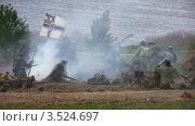 Купить «Реконструкция военных действий», видеоролик № 3524697, снято 17 июня 2008 г. (c) Losevsky Pavel / Фотобанк Лори