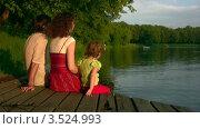 Купить «Семья у озера», видеоролик № 3524993, снято 30 января 2009 г. (c) Losevsky Pavel / Фотобанк Лори