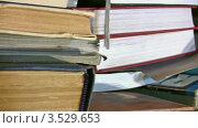 Купить «Стопки книг», видеоролик № 3529653, снято 5 ноября 2008 г. (c) Losevsky Pavel / Фотобанк Лори
