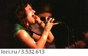 Купить «Певица на сцене», видеоролик № 3532613, снято 13 декабря 2008 г. (c) Losevsky Pavel / Фотобанк Лори