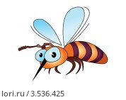 Купить «Мультипликационная пчела», иллюстрация № 3536425 (c) Dvarg / Фотобанк Лори
