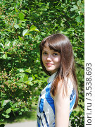 Портрет молодой девушки. Стоковое фото, фотограф Евгения Плешакова / Фотобанк Лори