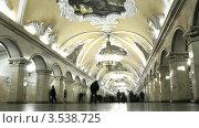 Купить «Интерьер метро в Москве, таймлапс», видеоролик № 3538725, снято 27 февраля 2009 г. (c) Losevsky Pavel / Фотобанк Лори