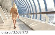 Купить «Стройная блондинка идет по коридору», видеоролик № 3538973, снято 15 апреля 2009 г. (c) Losevsky Pavel / Фотобанк Лори