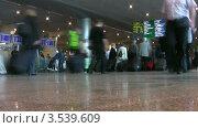 Купить «Пассажиры в аэропорту», видеоролик № 3539609, снято 22 августа 2009 г. (c) Losevsky Pavel / Фотобанк Лори