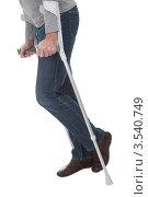Купить «Костыли, на которые опирается человек», фото № 3540749, снято 5 февраля 2012 г. (c) Андрей Попов / Фотобанк Лори