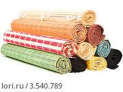 Разноцветные бамбуковые салфетки. Стоковое фото, фотограф Инна Шевелёва / Фотобанк Лори