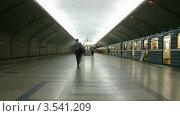 Купить «Поезда на станции метро, таймлапс», видеоролик № 3541209, снято 12 августа 2009 г. (c) Losevsky Pavel / Фотобанк Лори
