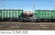 Купить «Железнодорожные пути из окна поезда», видеоролик № 3541325, снято 14 августа 2009 г. (c) Losevsky Pavel / Фотобанк Лори